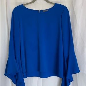 Vince Camuto Royal Blue 3/4 Flouncy Sleeves